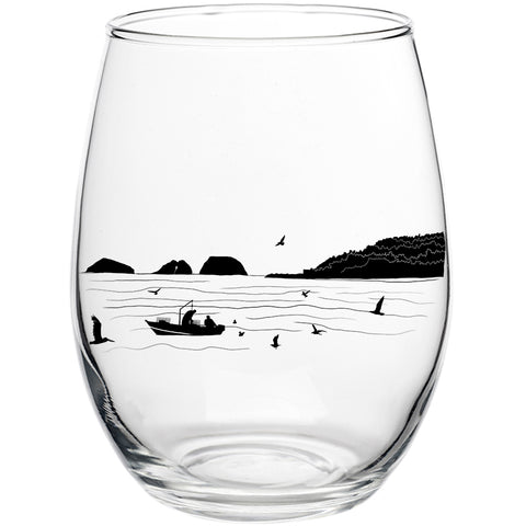 Bay Bounty Stemless Wine Glass