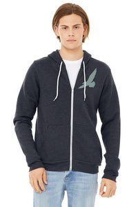 Bay Bounty Ultra Soft Zip Up Hoodie - Unisex Heather Navy