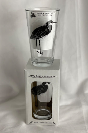 Blue Heron Pint Glass