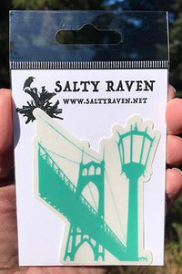 St.Johns Bridge Vinyl Sticker Clear