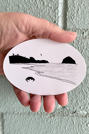 Crabby Beach Stickers