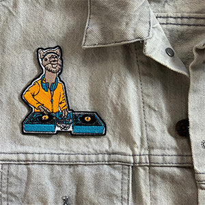 DJ LlamaRama Iron-On-Patch