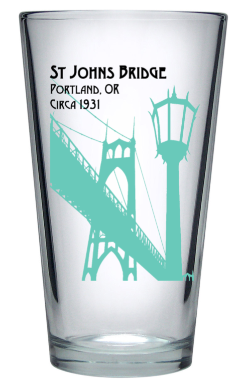 St Johns Bridge Pint Glass