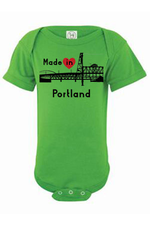 Made In Portland One Piece - Infant Apple