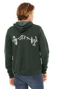 Mt Hood Forest Ultra Soft Pull Over Hoodie - Unisex Heather Forest