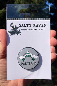 "Mt Hood Portland 1.5"" Pinback Button"