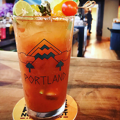 Mt Hood Portland Pint Glass