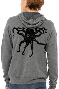 From the Deep Octopus Ultra Soft Zip up-Hoodie - Unisex Deep Heather