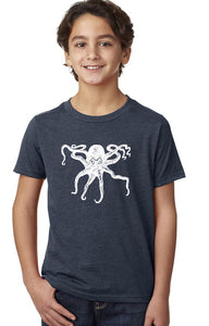 Octopus T-Shirt - Youth Navy