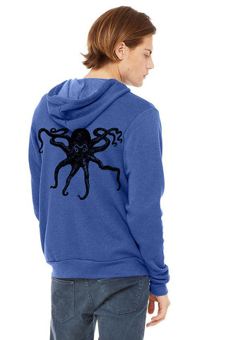 Ocotpus Ultra Soft Pull Over Hoodie - Unisex Heather True Royal