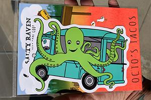 Octo Taco Large Vinyl Sticker