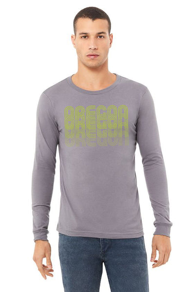 Oregon Fade T-Shirt - Long Sleeve Unisex Storm
