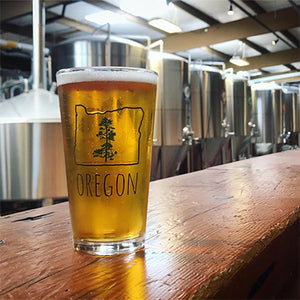 Oregon Pine Pint Glass