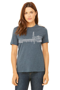 Portland Bridges T-Shirt - Women's Heather Slate
