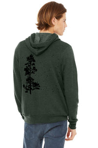 Pine Tree Flock Sponge Fleece Zip up Hoodie