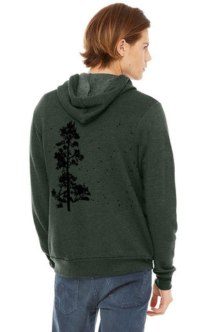 Pine Tree Flock  Z-Hoodie - Unisex Heather Slate