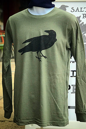 Raven T-Shirt - Long Sleeve Unisex Military Green