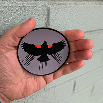 "Red Winged Blackbird 3"" Magnet"