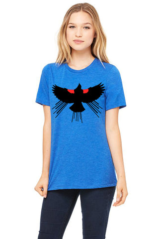Red Winged Blackbird T-Shirt - Women's True Royal Triblend