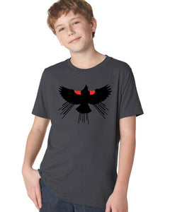 Red Winged Blackbird T-Shirt - Youth Heavy Metal