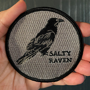 Salty Raven Iron-On-Patch