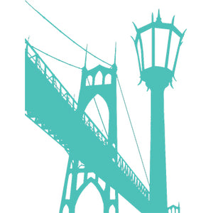 St Johns Bridge Temporary Tattoo