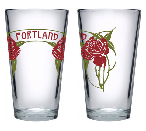 Portland Roses Pint Glass