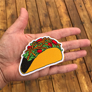 Taco Die Cut Iron-On-Patch