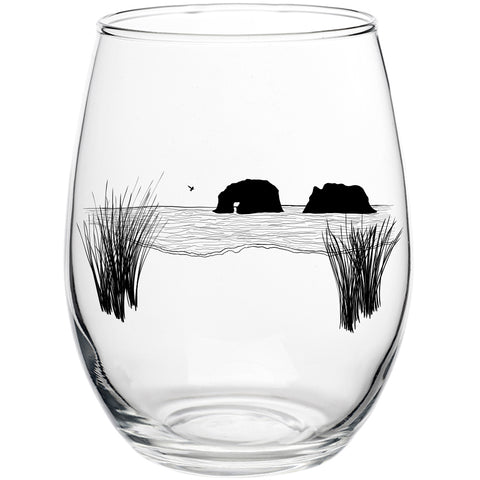 Twin Rocks Stemless Wine Glass