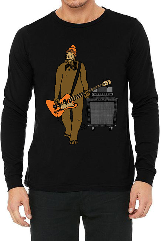 Mr Big On Bass - Long Sleeve Unisex Black