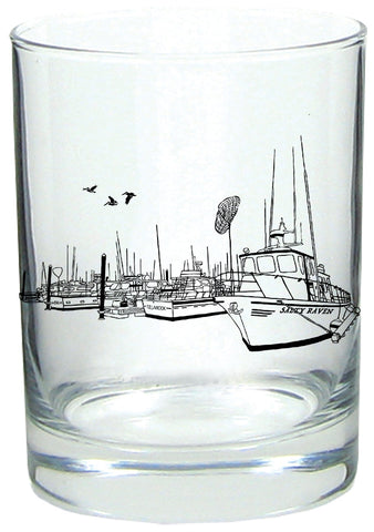 Salty Port Rocks Glass