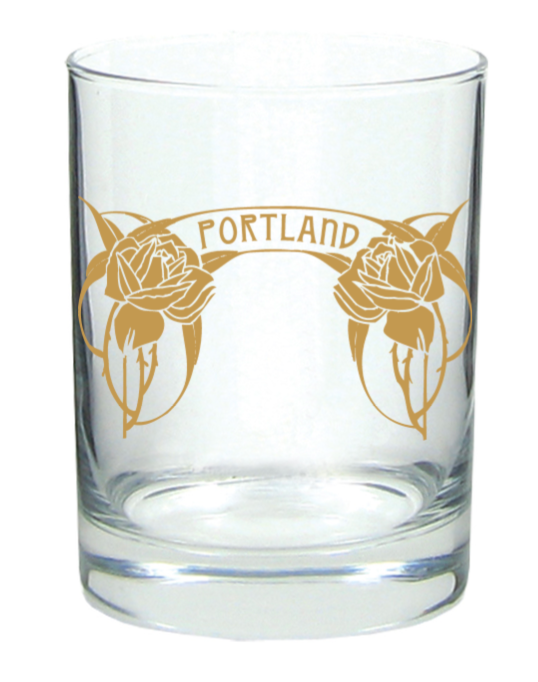 Portland Roses Rocks Glass