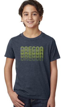 Oregon Fade T-Shirt - Toddler Vintage Navy