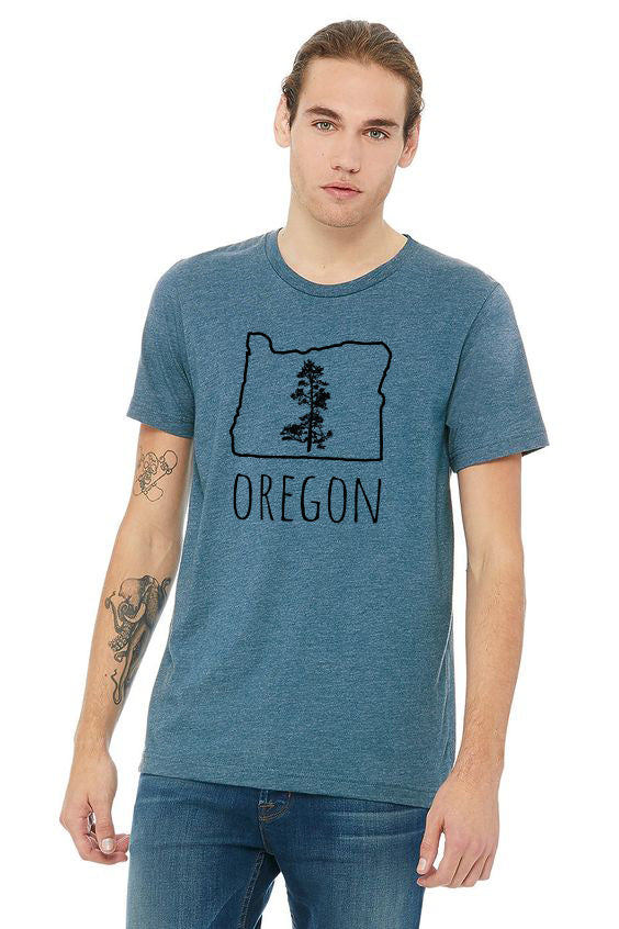 Oregon Pine T-Shirt - Heather Deep Teal