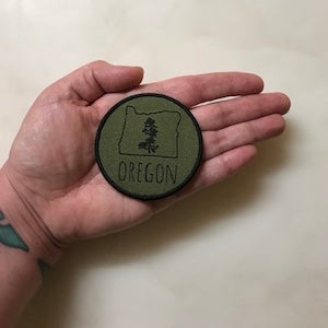Oregon Pine Iron-On-Patch
