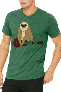 Zososlow Sloth T-Shirt - Unisex Heather Grass