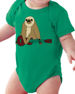 Zososlow Sloth Infant Bodysuit - Baby Kelly Green