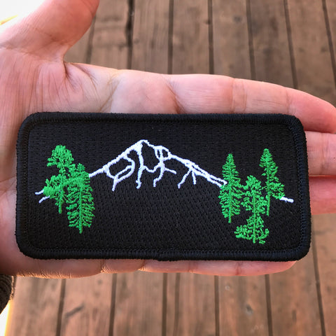 Mt Hood  Forest Iron-On-Patch