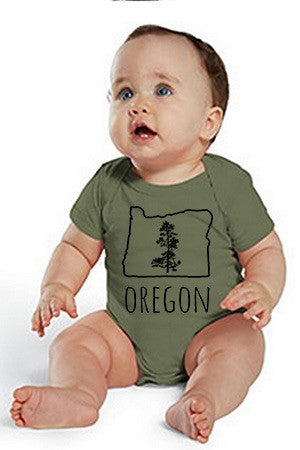 Oregon Pine One Piece - Infant Military Green