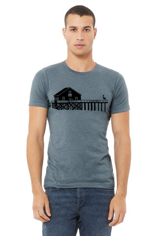 Boathouse Buddy  T-Shirt - Unisex Heather Slate
