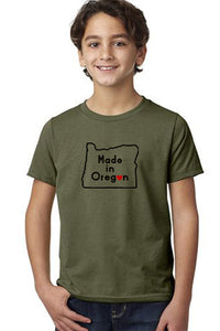 Made In Oregon T-Shirt - Toddler Military Green