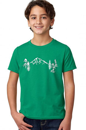 Mt Hood Forest  T-Shirt - Toddler Kelly Green