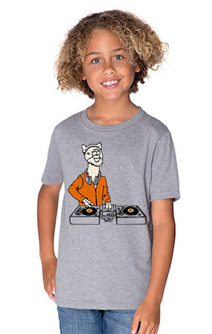 Flock of Gerrys Salty Raven Llama DJ Youth T-Shirt