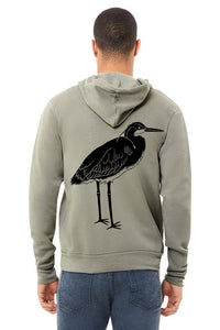 Blue Heron Ultra Soft Zip up Hoodie - Unisex Heather Stone
