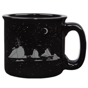 Moon Over Three Graces Campfire Mug