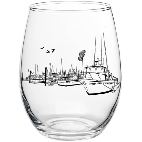 Salty Port Stemless Wine Glass