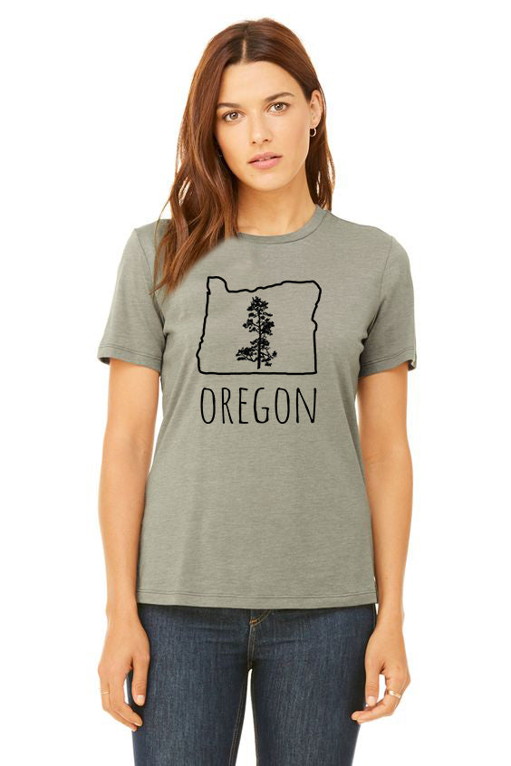 Oregon Pine T-Shirt - Women's Harther Stone