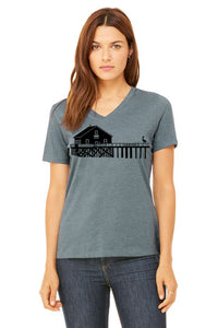 Boathouse Buddy V-Neck Tee - Women's Heather Slate