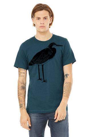 Blue Heron T-Shirt - Unisex Deep Teal