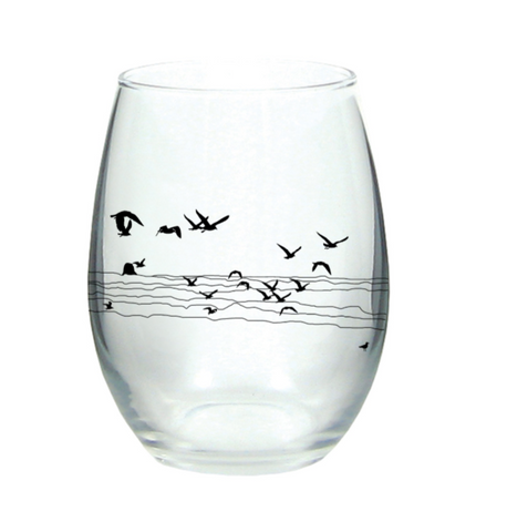 Seagull Beach Wine Glass